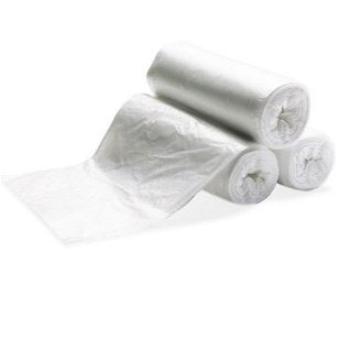 "24"" x 24"" 6 mic Clear Can Liners, 7-10 Gallon, 1000/cs"