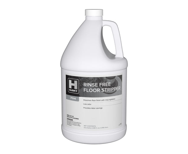 Husky 704: Rinse Free Floor Stripper 1 gal 4/cs