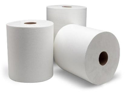 Roll Paper Towel - White, 6 rolls, 800ft/cs