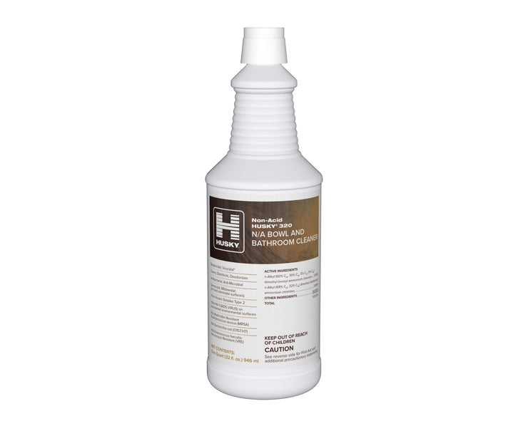 Husky 320: Non-Acid N/A Bowl and Bathroom Cleaner, 32oz 12/cs