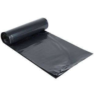 "38"" x 58"" 1.5 mil Black Can Liners 60 Gallon, 100/cs"