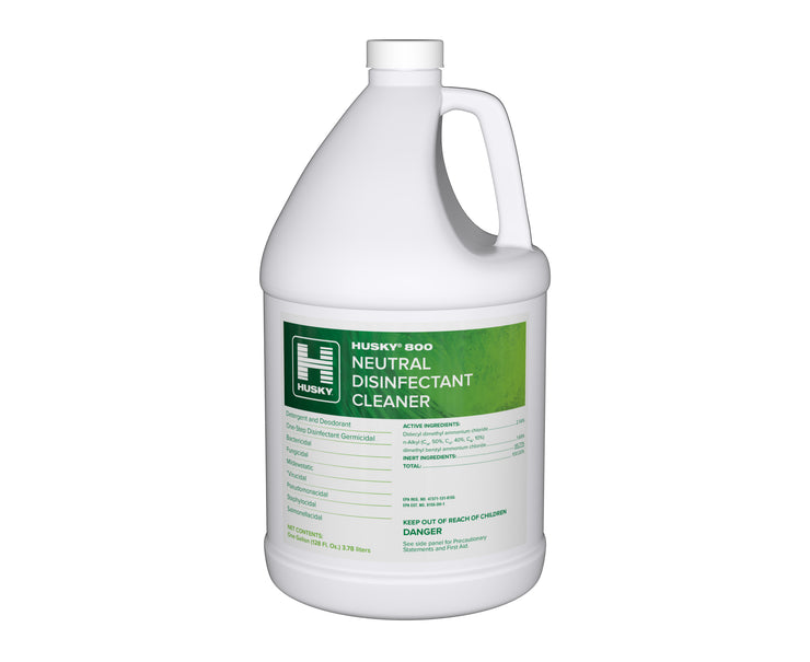 Husky 800: Neutral Disinfectant Cleaner 1gal 4/cs