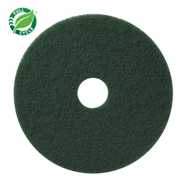 "17"" Green Scrub Floor Pad, 5/cs"