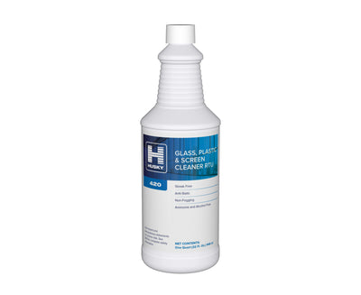 Husky 420: Glass, Plastic & Screen Cleaner RTU, 32oz 12/cs