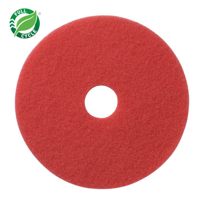 "17"" Red Buff Floor Pad, 5/cs"