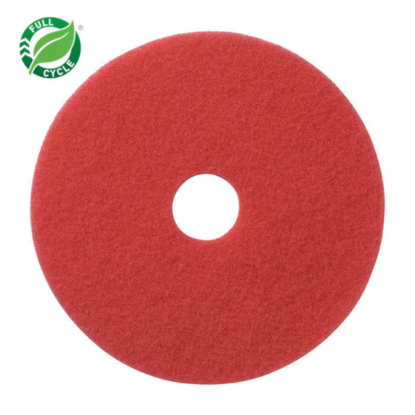 "20"" Red Buff Floor Pad, 5/cs"