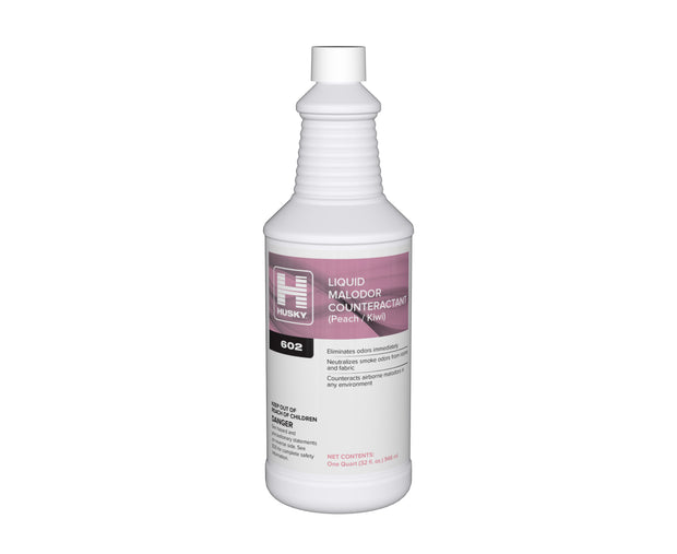 Husky 602: Liquid Malodor Counteractant (Peach / Kiwi), 32oz, 12/cs