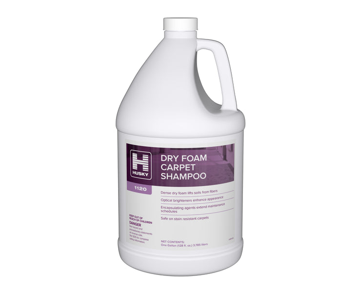 Husky 1120: Dry Foam Carpet Shampoo, 1gal 4/cs