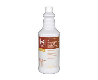 Husky 906: O/O RTU Multi-Purpose Cleaner & Degreaser (with HyPOX-7 Oxidizer®) (Oxy/Orange) 32oz 12/cs