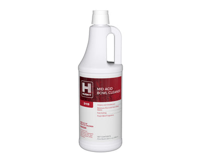 Husky 315:Mid Acid Bowl Cleaner (14.5% HCl), 32oz 12/cs