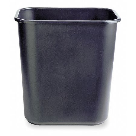 Rectangular Plastic Wastebasket-28 1/8 Qt,Black