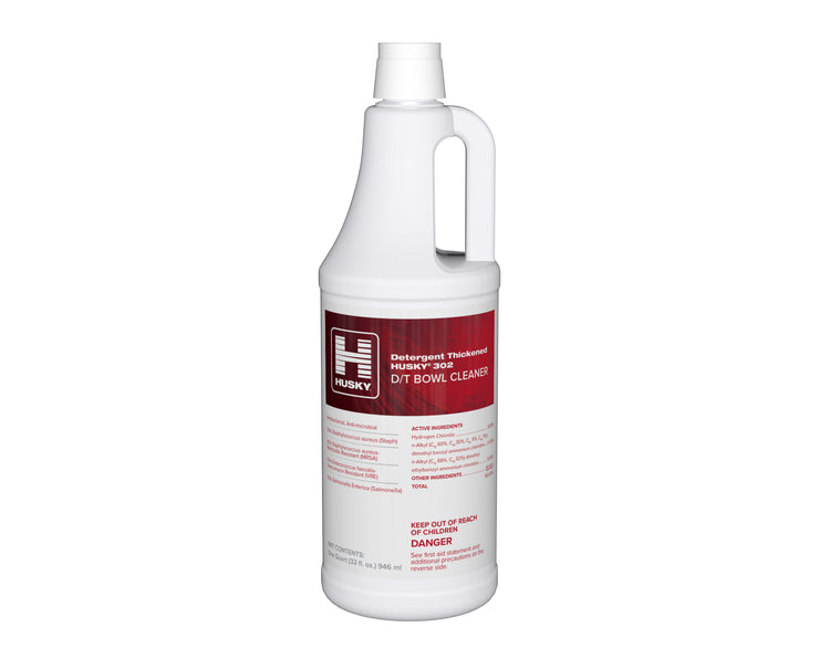 Husky 302: D/T Bowl Cleaner (Detergent Thickened/9.5% HCl), 32oz 12/cs