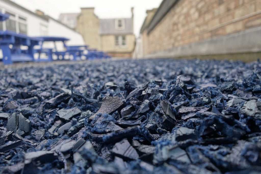 Landscape Rubber Chippings Blue - Safer Surfacing