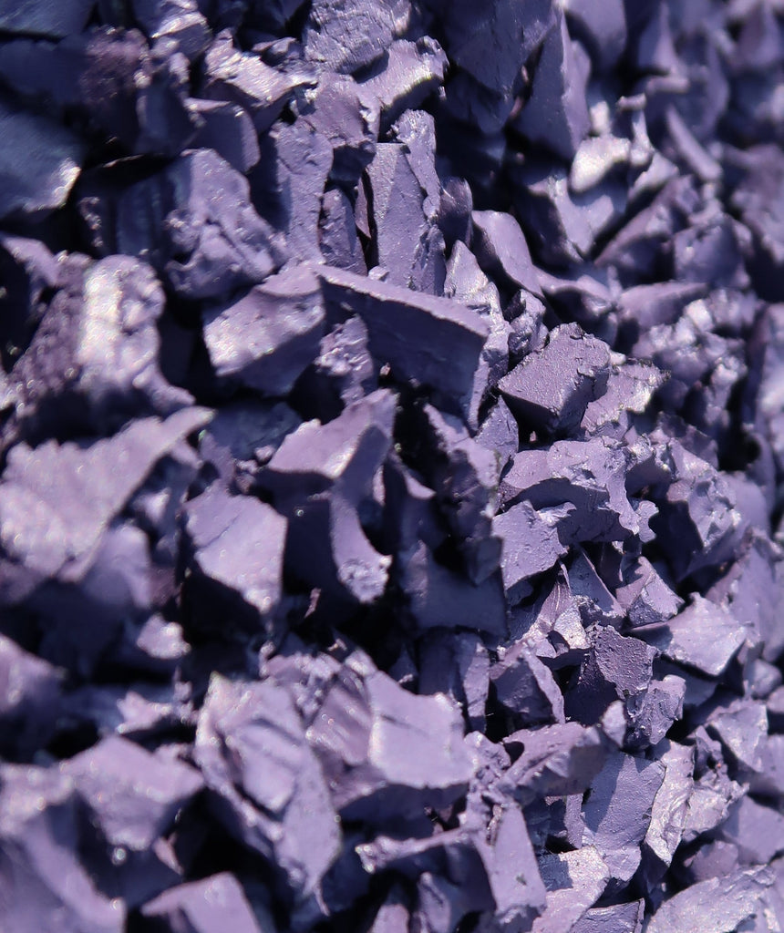 purple rubber chippings
