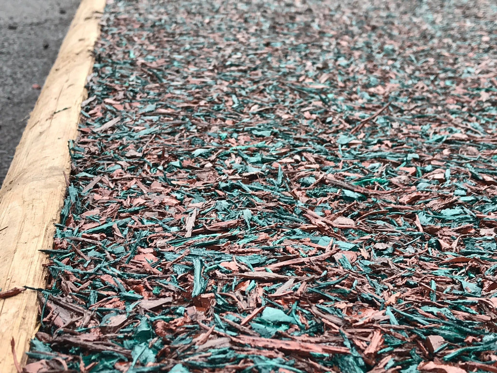 Rubber Mulch Green - Safer Surfacing
