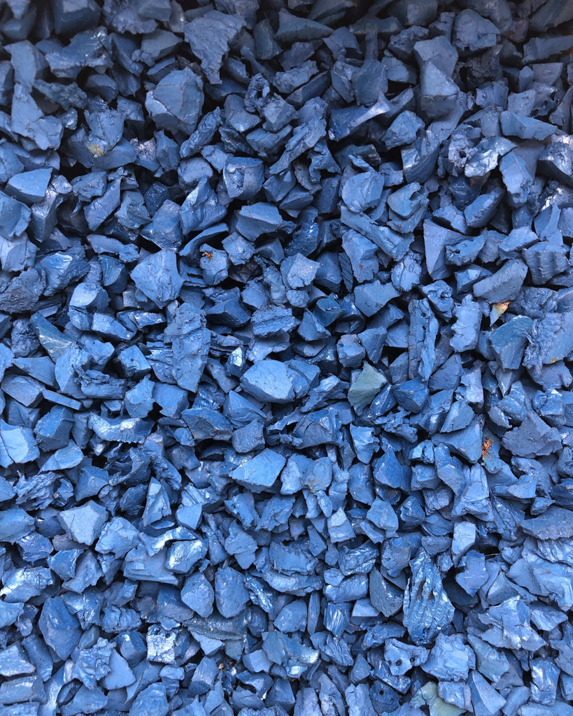 Landscape Classic Rubber Chippings Blue - Safer Surfacing