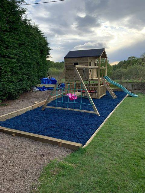 Play Rubber Chippings Blue - Safer Surfacing
