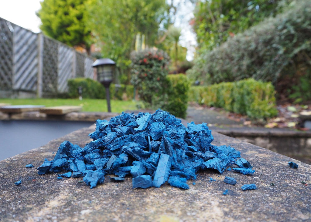 Landscape Economy Rubber Chippings Blue - Safer Surfacing