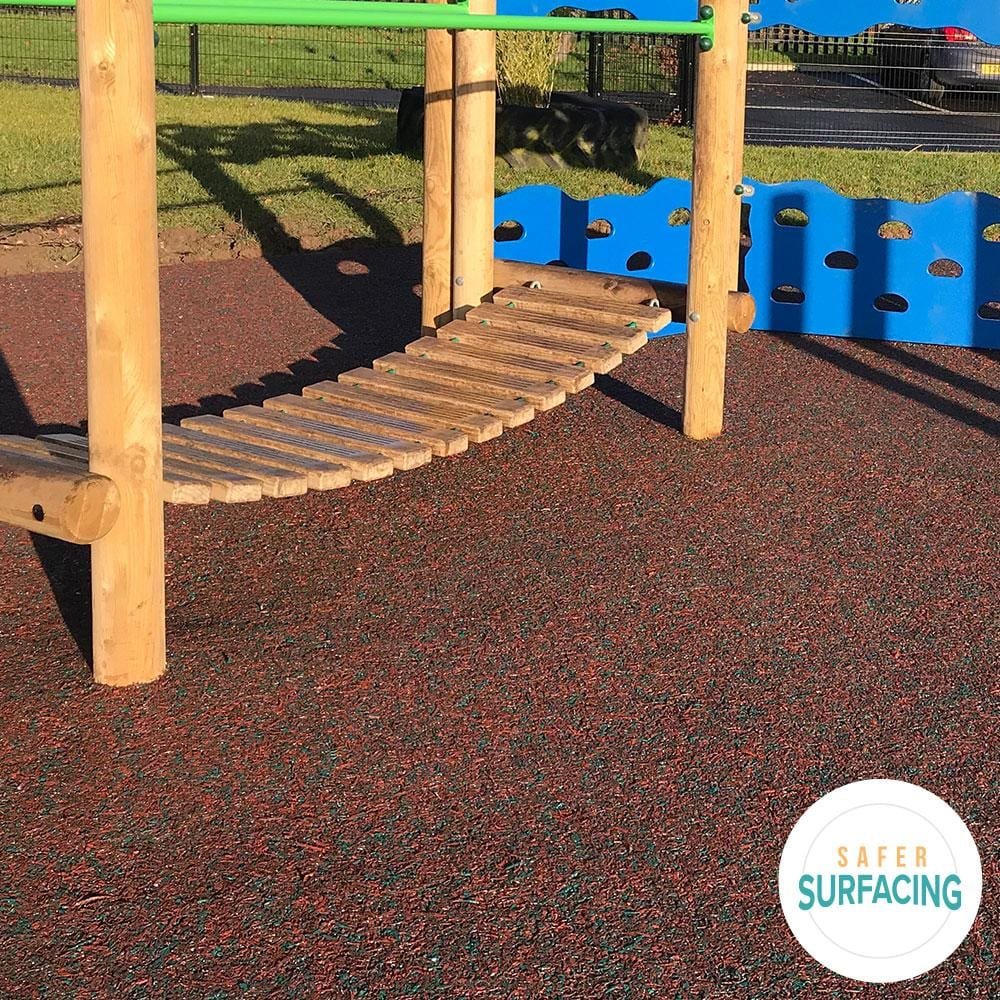 Rubber Mulch Blue - Safer Surfacing