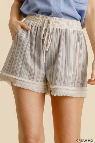 'Such A Delight' Frayed Hem Shorts