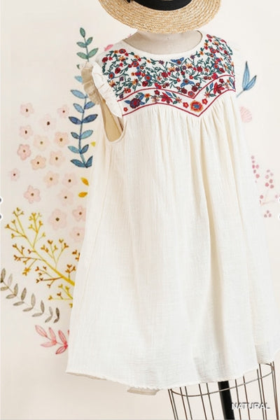 'Chasing Sunsets' Embroidered Dress