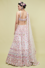 Load image into Gallery viewer, IVORY MULTI MIRROR LEHENGA SET - The Grand Trunk