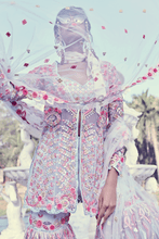 Load image into Gallery viewer, BLUE SOFT NET GHARARA SET - The Grand Trunk