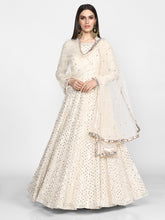 Load image into Gallery viewer, Abhinav Mishra  Off White  Anarkali Set - The Grand Trunk
