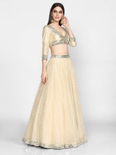Load image into Gallery viewer, Abhinav Mishra  Beige Lehenga Set - The Grand Trunk
