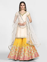Load image into Gallery viewer, Abhinav Mishra  Off White And Yellow Sharara Set - The Grand Trunk