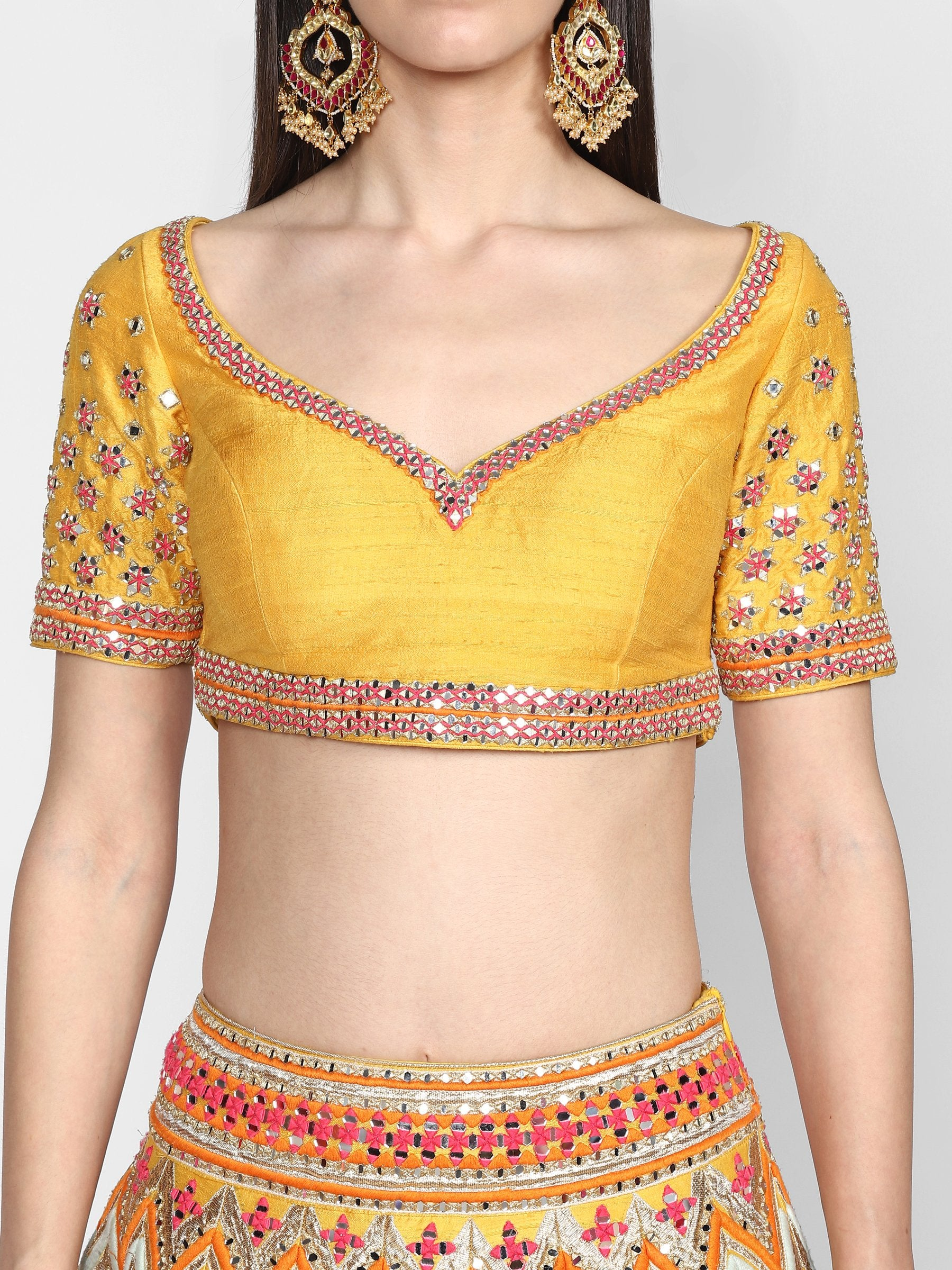 Abhinav Mishra  Multicolor Lehenga Set - The Grand Trunk
