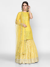 Load image into Gallery viewer, Abhinav Mishra  Yellow Kurta Sharara - The Grand Trunk