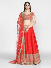 Load image into Gallery viewer, Abhinav Mishra  Red Lehenga Set - The Grand Trunk