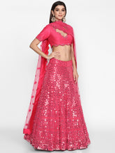 Load image into Gallery viewer, Abhinav Mishra Rani Pink  Lehenga Set - The Grand Trunk
