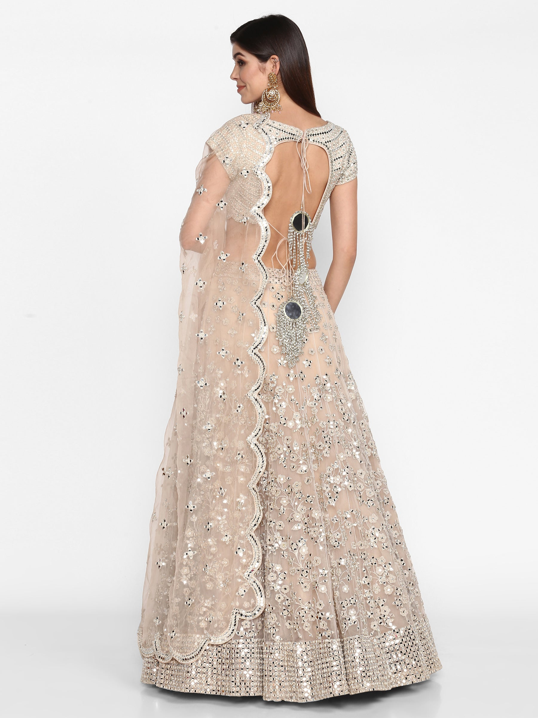 Abhinav Mishra Blush  Lehenga Set - The Grand Trunk