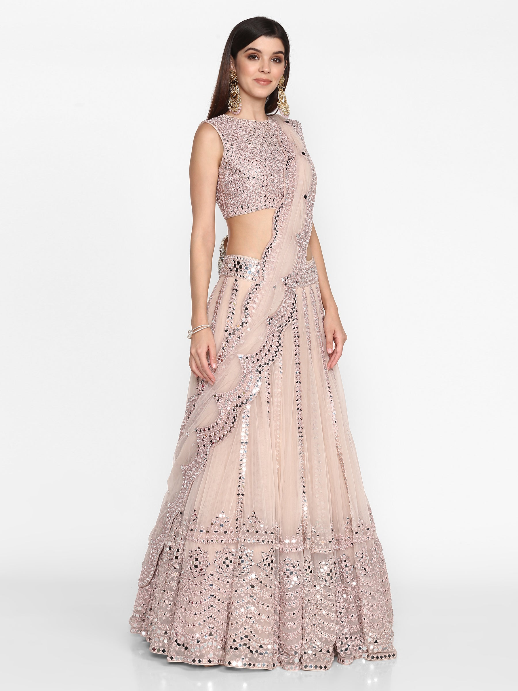 Abhinav Mishra Light Lilac  Lehenga Set - The Grand Trunk