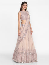 Load image into Gallery viewer, Abhinav Mishra Light Lilac  Lehenga Set - The Grand Trunk