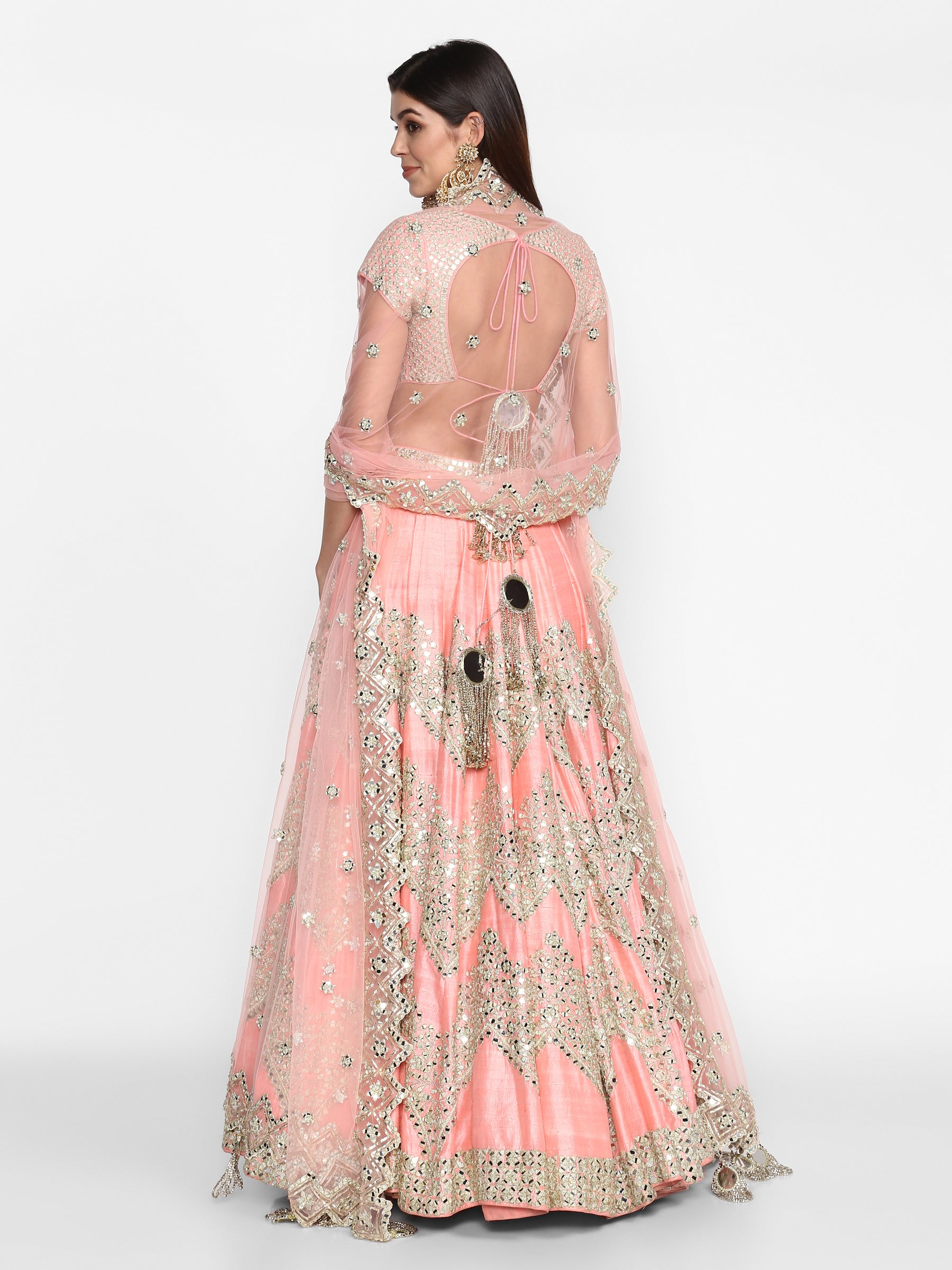 Abhinav Mishra Pink Lehenga Set - The Grand Trunk