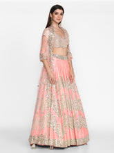 Load image into Gallery viewer, Abhinav Mishra Pink Lehenga Set - The Grand Trunk