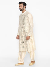 Load image into Gallery viewer, Abhinav Mishra Beige-Cream Kurta - The Grand Trunk