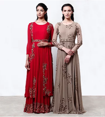 Astha Narang Red Jumpsuit - The Grand Trunk