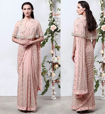 Pink Saree - The Grand Trunk