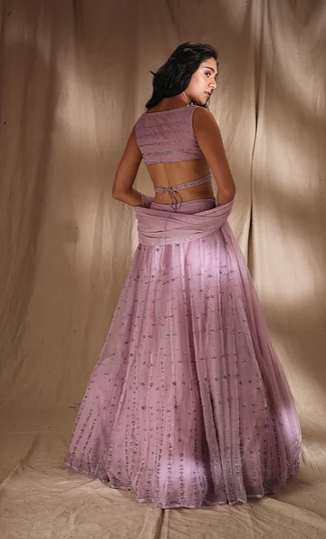 Astha Narang Lavender Lehenga - The Grand Trunk