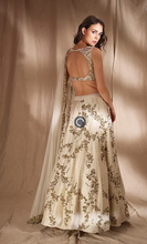 Load image into Gallery viewer, Astha Narang Ivory and Gold Lehenga - The Grand Trunk