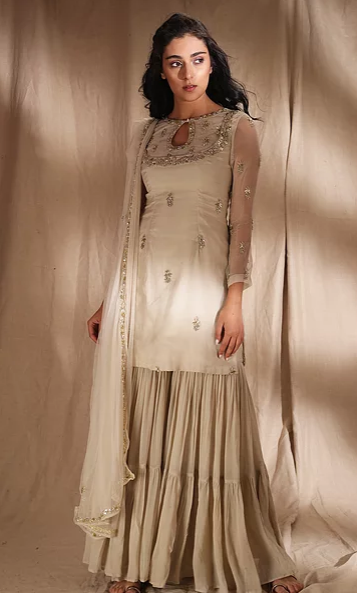 Astha Narang Ivory Suit - The Grand Trunk
