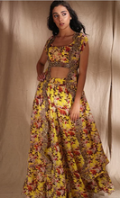 Load image into Gallery viewer, Astha Narang Yellow Floral With Belt - The Grand Trunk