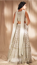 Load image into Gallery viewer, Astha Narang White Gold Lehenga - The Grand Trunk