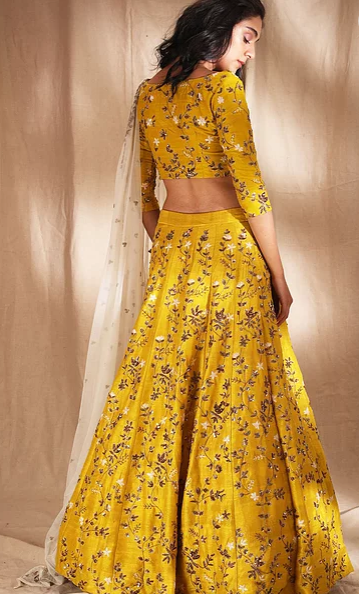 Astha Narang Yellow Lehenga - The Grand Trunk