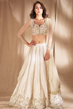 Load image into Gallery viewer, Astha Narang White and gold zari sequin Lehenga - The Grand Trunk