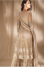 Load image into Gallery viewer, Astha Narang Grey Cream With Threadwork Jacket - The Grand Trunk
